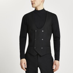 River Island Mens Black double breasted suit waistcoat found on MODAPINS from RIver Island US for USD $70.00