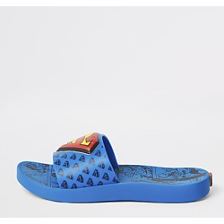 River Island Kids Ipanema blue Superman sliders found on Bargain Bro India from RIver Island US for $44.00