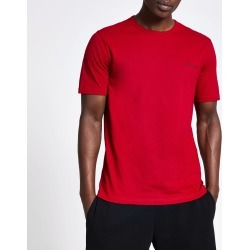 Mens River Island Prolific Red slim fit T-shirt