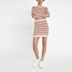 Womens Pink printed jacquard mini skirt found on MODAPINS from River Island - UK for USD $35.58