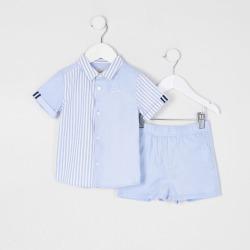River Island Mini boys Blue striped shirt 2 piece set found on Bargain Bro UK from River Island - UK