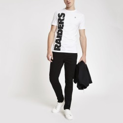 Mens River Island Only & Sons White NFL Raiders T-shirt found on Bargain Bro UK from River Island - UK