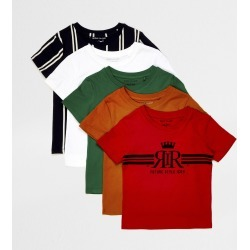 River Island Mini boys Red print t-shirts 5 pack found on Bargain Bro UK from River Island - UK