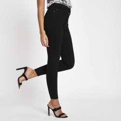 Womens Black high waisted Harper skinny jeans found on MODAPINS from River Island - UK for USD $44.07