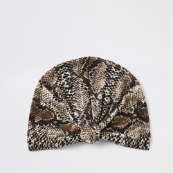Womens Beige snake print turban headband found on MODAPINS from River Island - UK for USD $15.25
