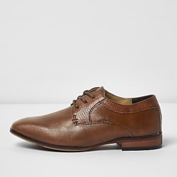 River Island Boys tan brown pointed brogue shoes found on Bargain Bro India from RIver Island US for $40.00