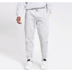 Mens River Island Prolific Grey colour blocked joggers