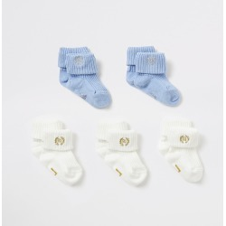 River Island Baby blue and cream socks 5 pack