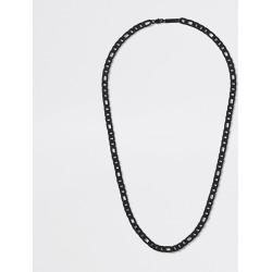 River Island Mens Black chain necklace