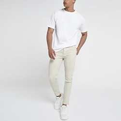 River Island Mens Ecru tapered jeans found on MODAPINS from RIver Island US for USD $80.00