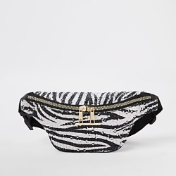 River Island Girls white zebra print sequin bum bag found on MODAPINS from RIver Island US for USD $24.00
