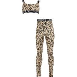 River Island Girls Brown leopard print loungewear set found on Bargain Bro UK from River Island - UK