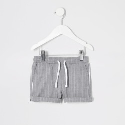 River Island Mini boys Grey stripe shorts found on Bargain Bro UK from River Island - UK