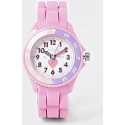 River Island Mini girls Tikkers pink time teacher watch