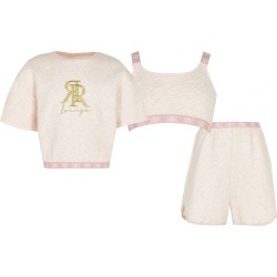 River Island Age 13+ girls Pink quilted piece lounge Set found on Bargain Bro UK from River Island - UK