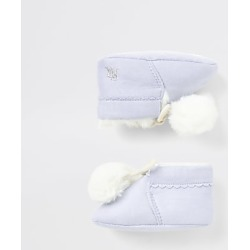 River Island Baby blue faux fur pom pom booties found on Bargain Bro India from RIver Island US for $24.00