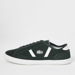 Mens River Island Lacoste Green Sideline trainers