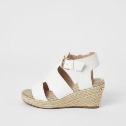 River Island Girls White strappy wedge sandals