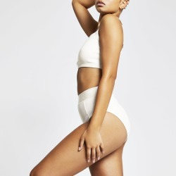 River Island Womens Intimates Cream ribbed knickers found on Bargain Bro UK from River Island - UK