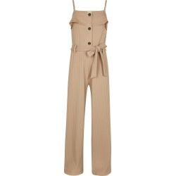 River Island Girls Pink ribbed belted jumpsuit found on Bargain Bro UK from River Island - UK