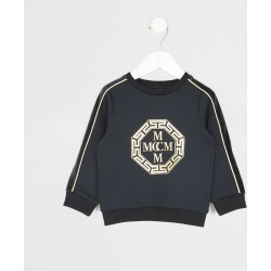 River Island Mini boys Navy foil printed sweatshirt found on Bargain Bro UK from River Island - UK