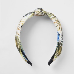 River Island Womens Green leaf print knot headband found on MODAPINS from River Island - UK for USD $12.52