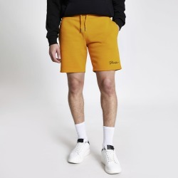 Mens River Island Prolific mustard slim fit shorts
