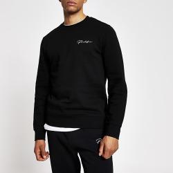 River Island Mens Prolific black slim fit sweatshirt
