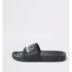 River Island Womens Ellesse Black sliders