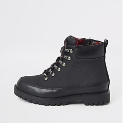 River Island Boys black check lined hiking boots found on Bargain Bro India from RIver Island US for $50.00