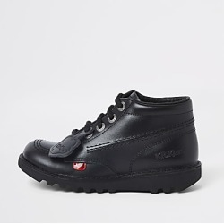 Kids black Kickers lace-up boots found on Bargain Bro India from RIver Island US for $110.00