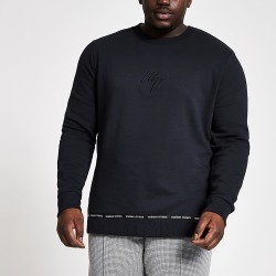 River Island Mens Big and tall navy Maison slim fit sweatshirt