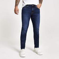 River Island Mens Dark blue slim fit Dylan jeans