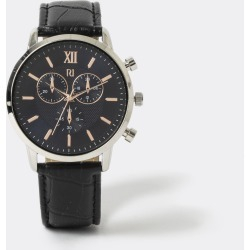 Mens River Island Black embossed rose gold colour watch found on Bargain Bro UK from River Island - UK