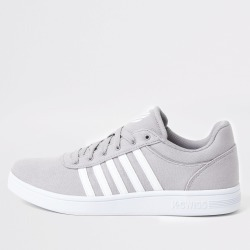 Mens River Island K-Swiss Grey Court Cheswick trainers