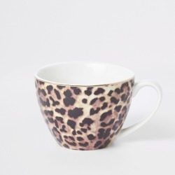 River Island Brown leopard print bowl mug found on Bargain Bro UK from River Island - UK