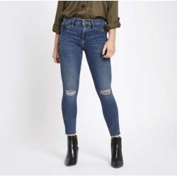 Womens Petite Blue Molly ripped jeggings found on MODAPINS from River Island - UK for USD $53.37
