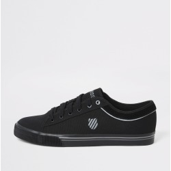 Mens River Island K-Swiss Black canvas lace-up trainers