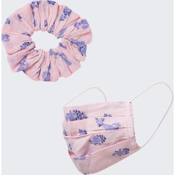 River Island Womens Pink floral face covering and scrunchie found on Bargain Bro UK from River Island - UK