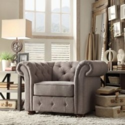 Kyle Tufted Linen Chair - Choose Color - Sam's Club found on Bargain Bro from  for $499