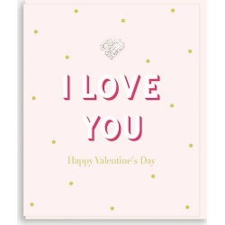 I Love You card 15cm