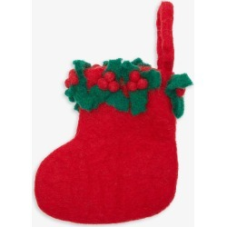 Holly-trimmed mini Christmas stocking found on Bargain Bro India from Selfridges US for $14.50