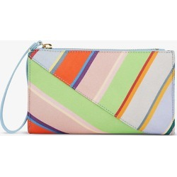 Dune stripe-print silk-blend clutch found on MODAPINS from Selfridges US for USD $89.00