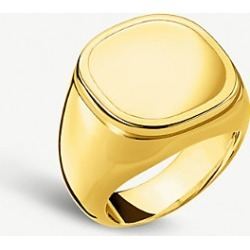 Classic 18ct yellow-gold plated silver signet ring found on Bargain Bro India from Selfridges US for $390.00