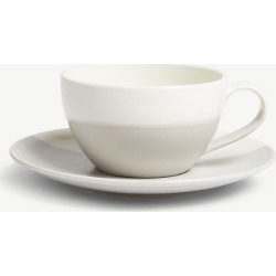 Coffee cappuccino cup and saucer set