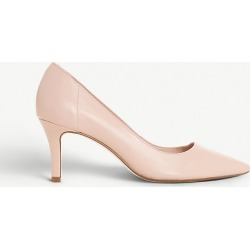 Andrie leather kitten heel court shoes