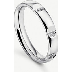 B-Dimension 18ct white-gold and diamond wedding ring found on MODAPINS from Selfridges US for USD $3380.00