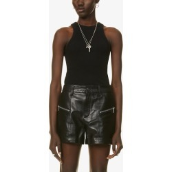 Lia leather shorts found on Bargain Bro India from Selfridges US for $685.00