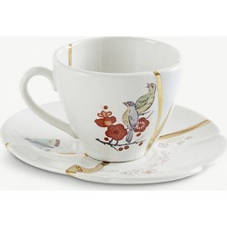 Kintsugi N2 porcelain coffee cup and saucer