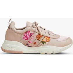 Keatonr floral leather and fabric low-top trainers found on Bargain Bro India from Selfridges US for $142.00